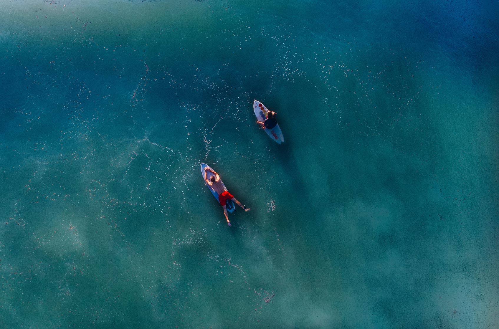 серферы на воде