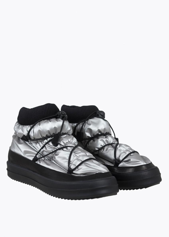 зимние ботинки бутики серебряные