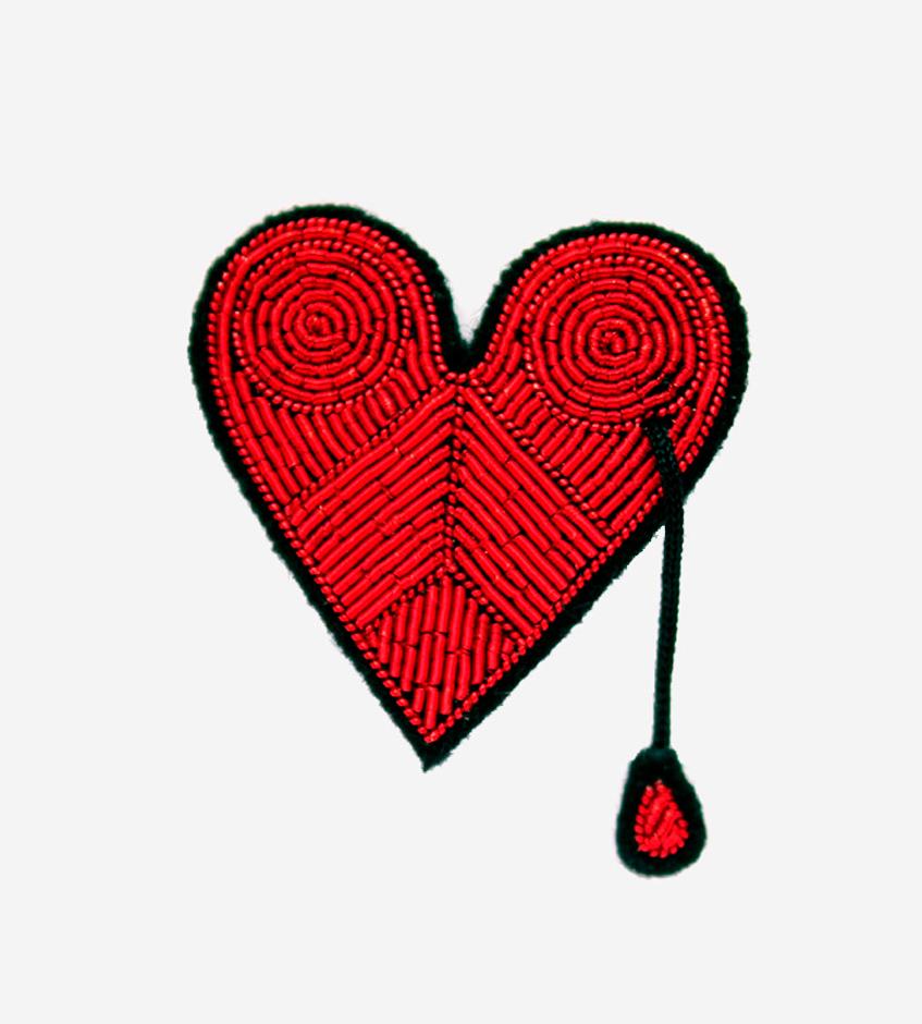 Брошь сердце Macon&Lesquoy