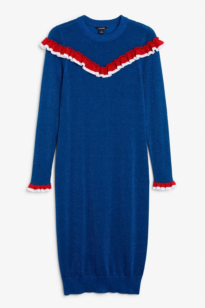 Платье синее Monki