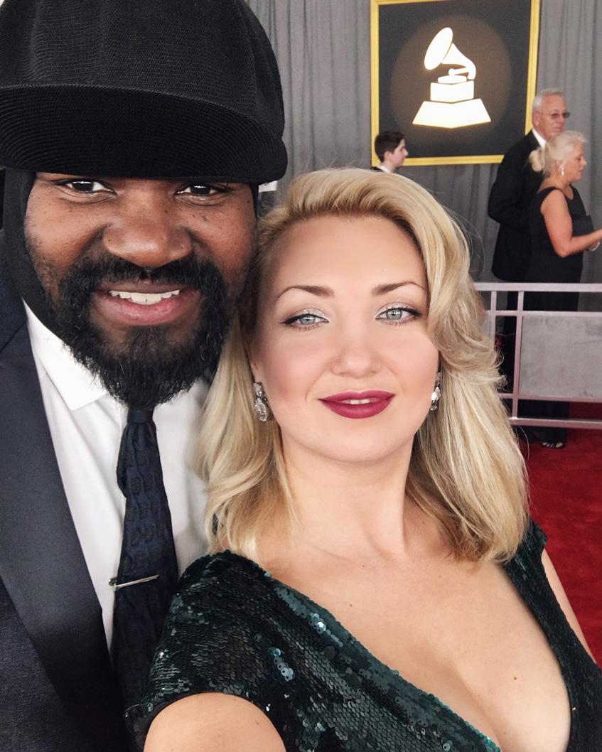 Грегори Портер с женой