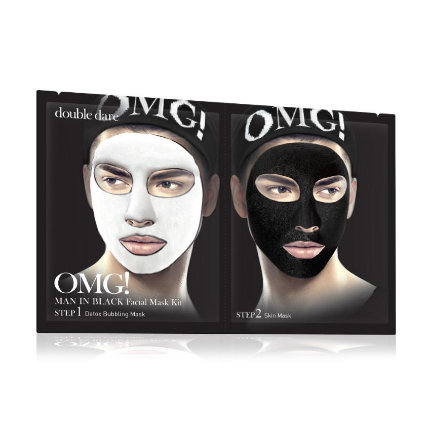 маска для лица для мужчин Double Dare OMG! Man In Black