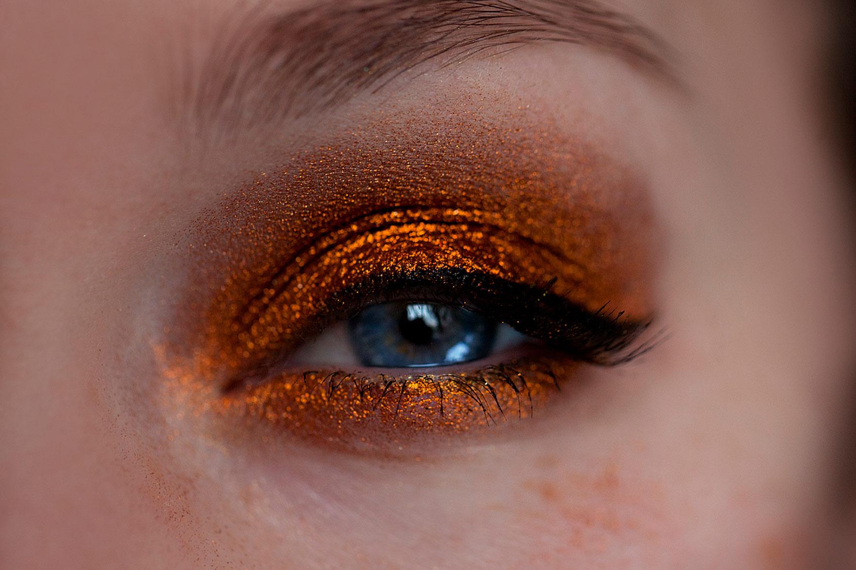 тени оранжевые перламутровые