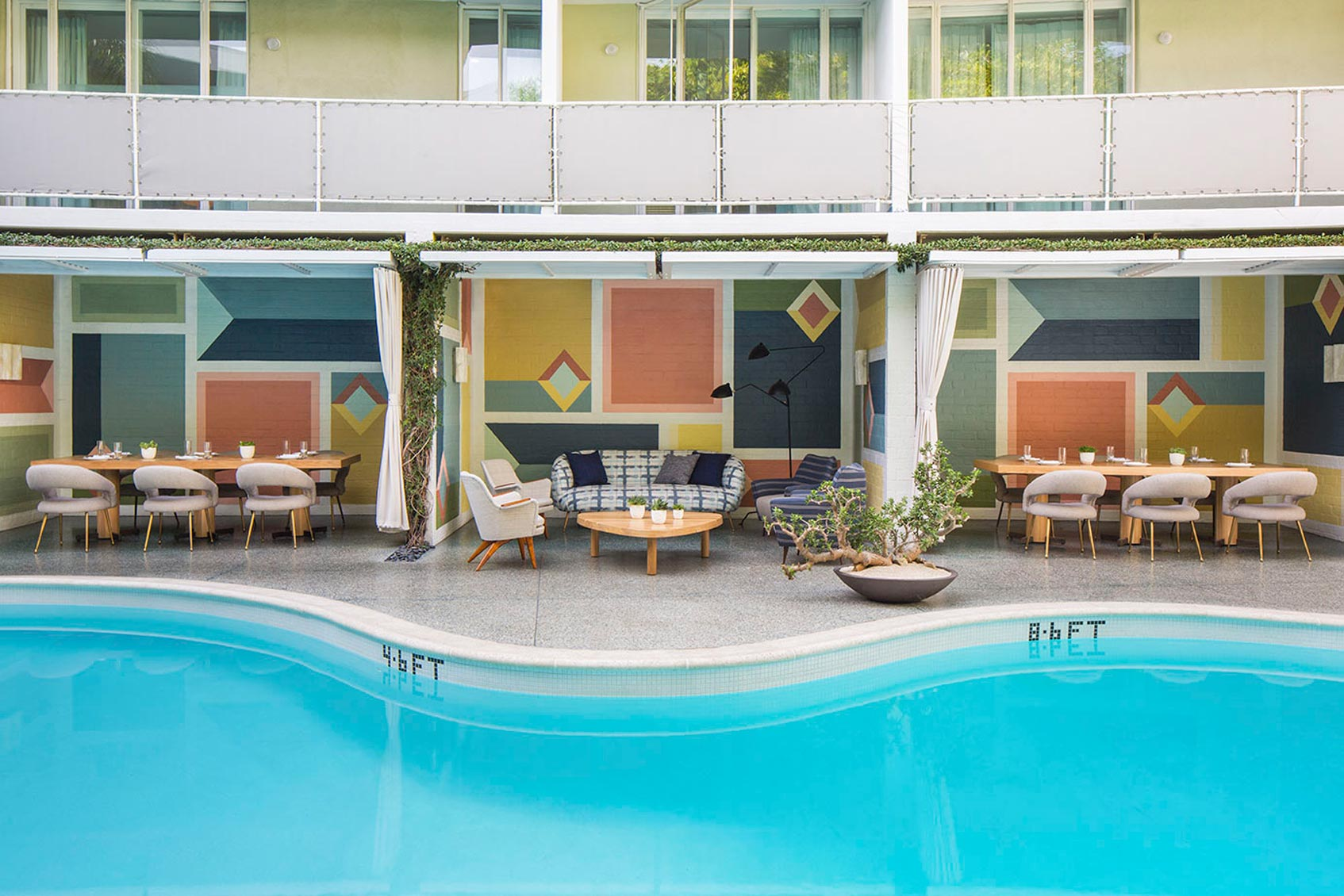 Отель Avalon Hotel Beverly Hills Лос-Анджелес