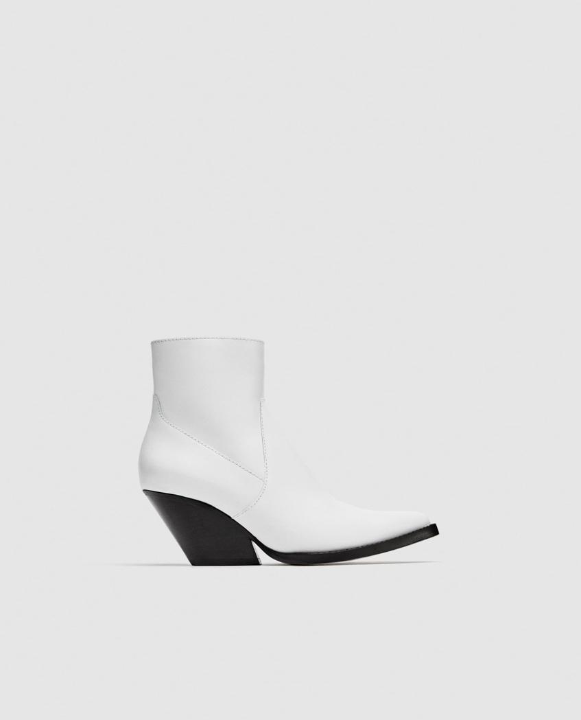 Ботильоны белые Zara