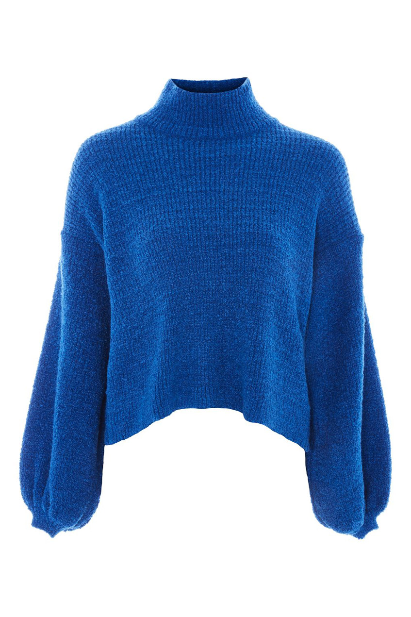 Синий пуловер Topshop
