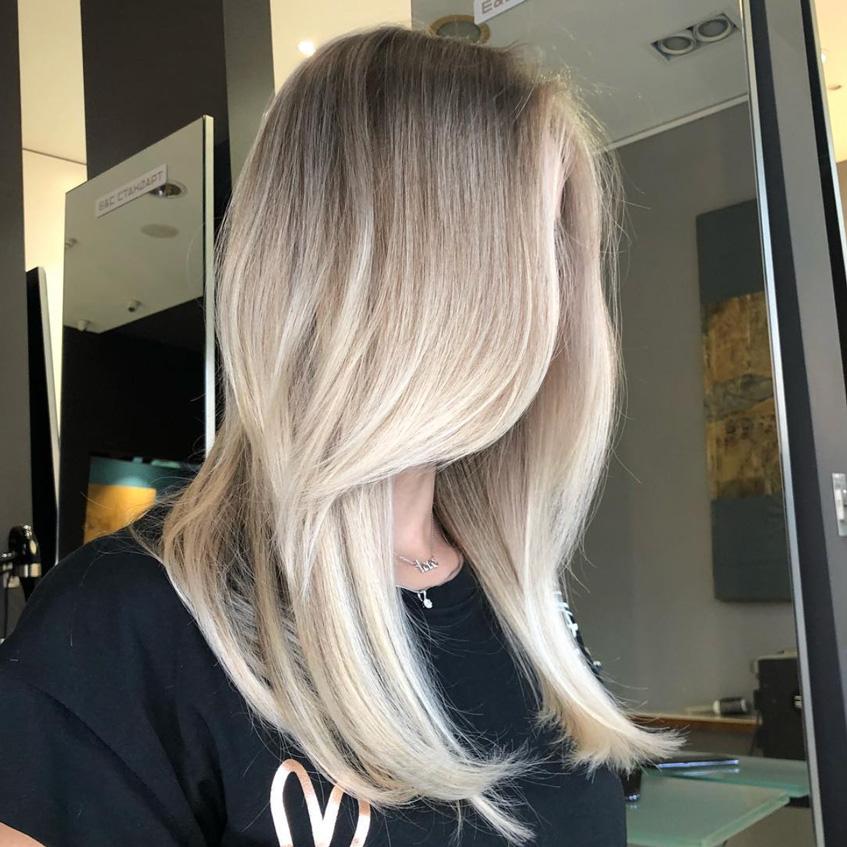 окрашивание Air Touch светлые волосы