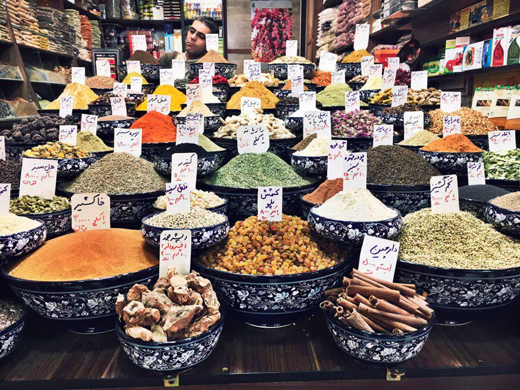Иран рынки и специи