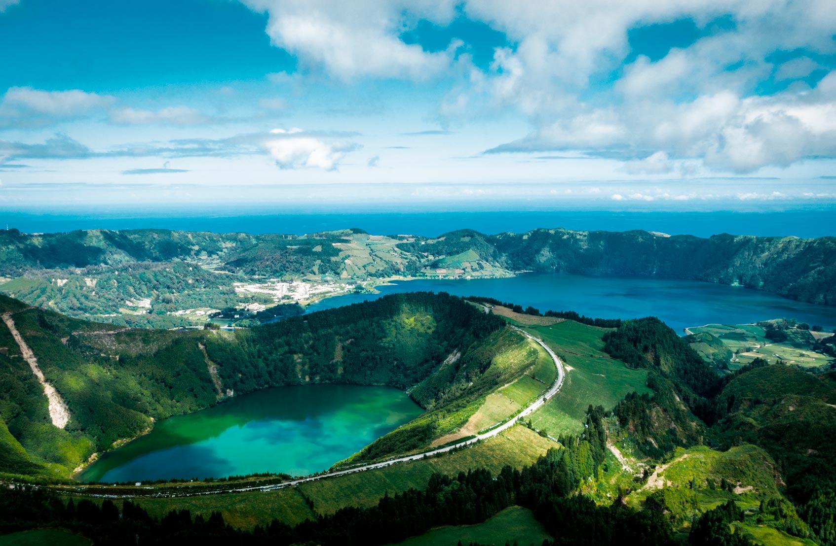 Азорские острова природа горы