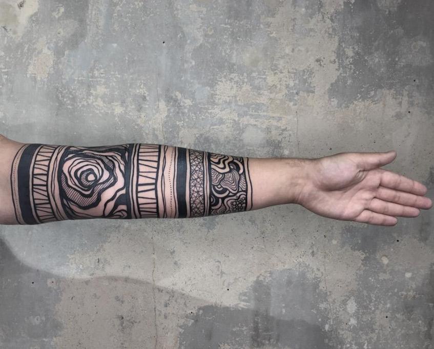 татуировка рукав узоры