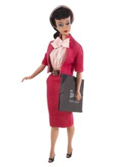 Кукла Барби в розовом костюме 1960