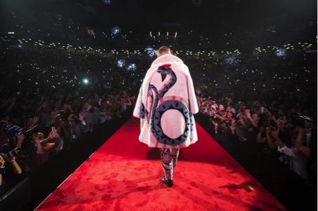 розовая шуба Gucci 2017