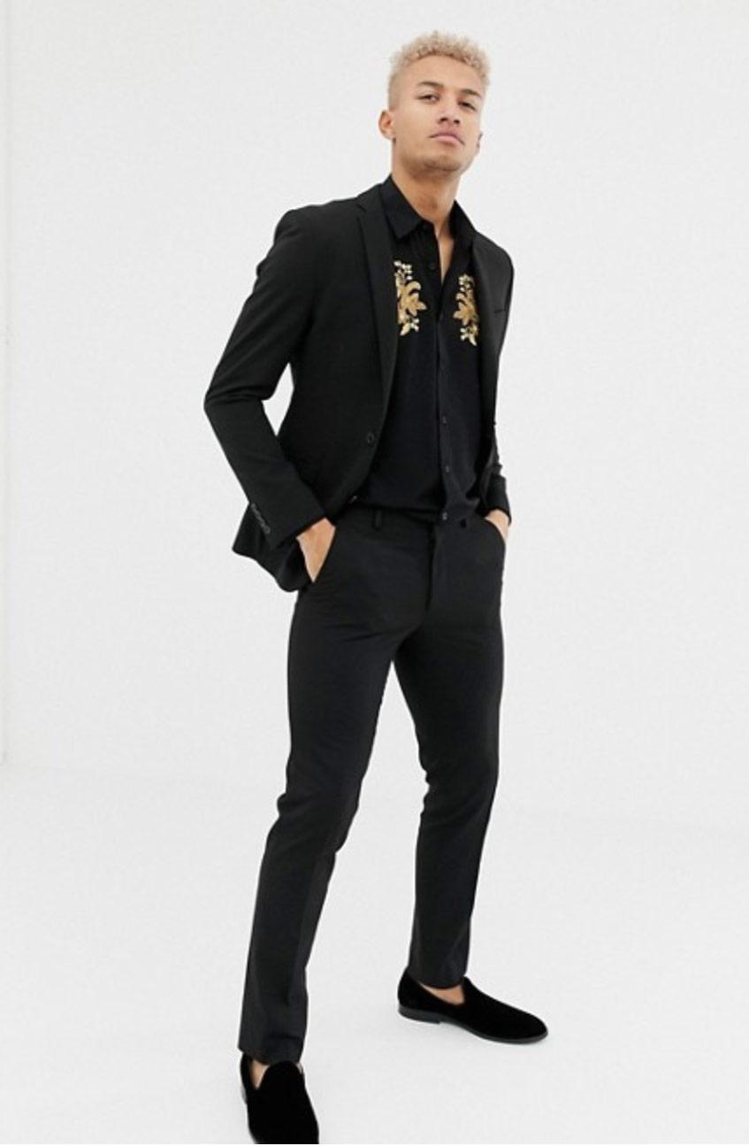 Рубашка черная Asos