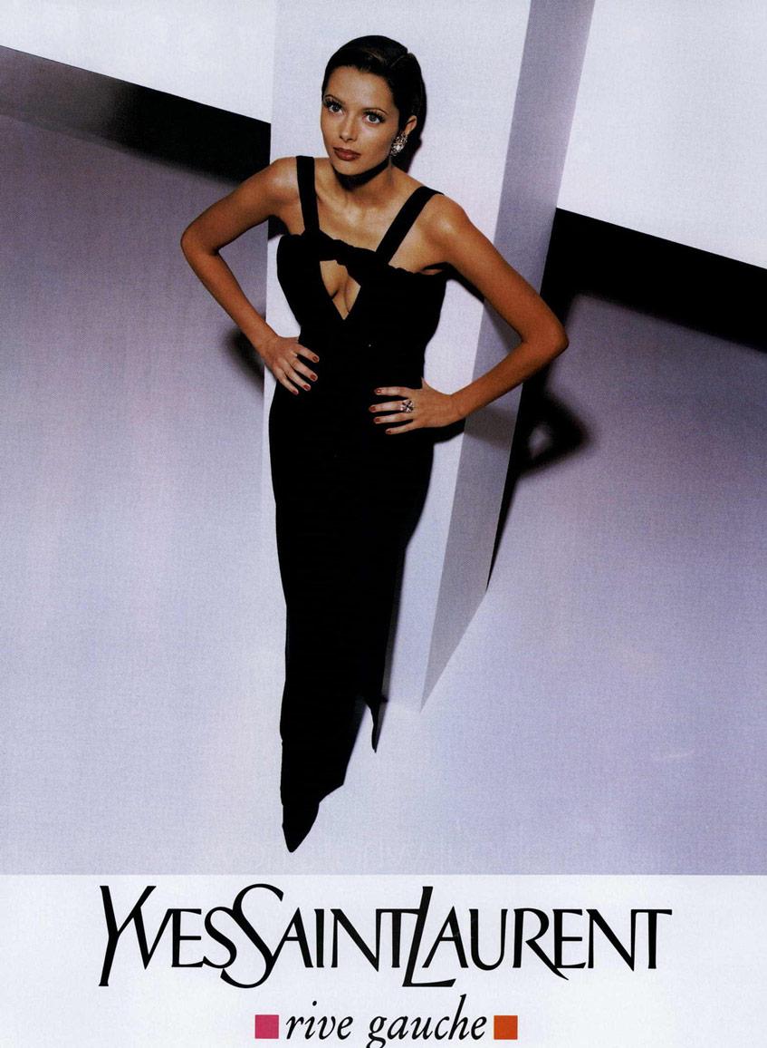 черное платье Yves Saint Laurent 1994
