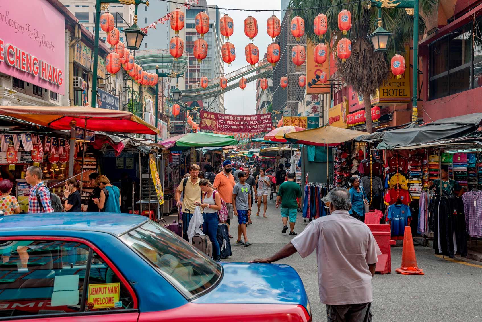 Куала-Лумпур где попробовать местную кухню стритфуд