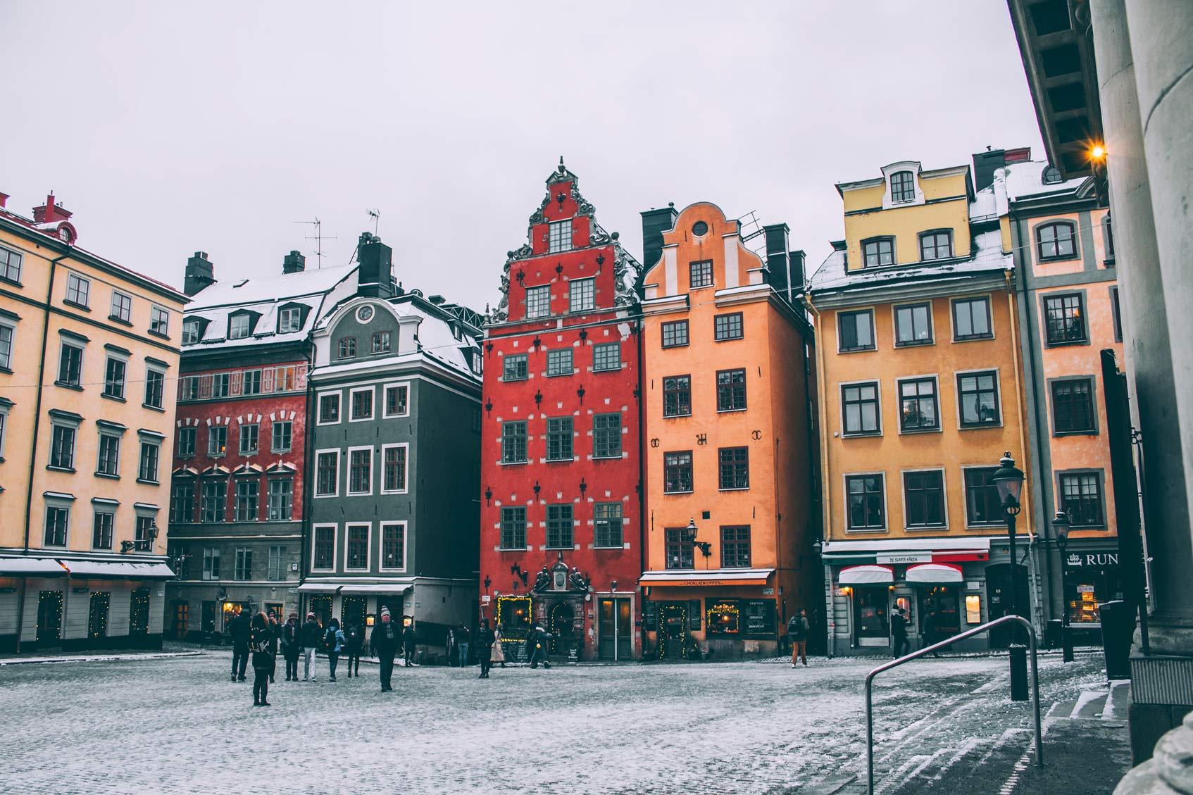 Стокгольм типичные дома