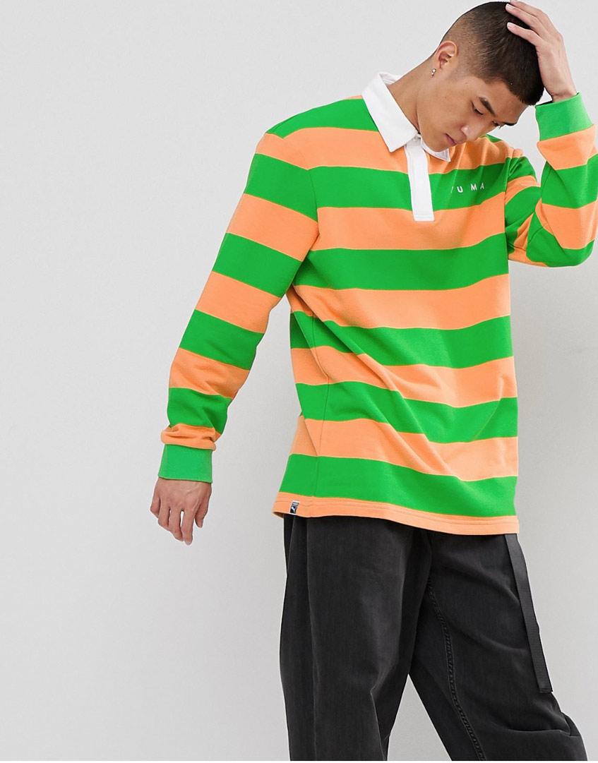 Мужской пуловер в полоску Puma