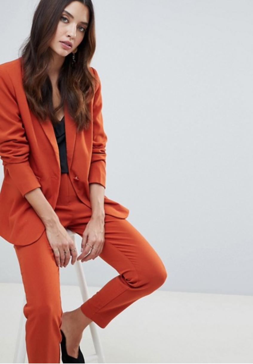 оранжевый блейзер Y.A.S Tailored