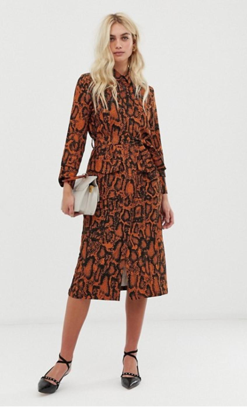 Платье с экзотическим принтом Zibi London