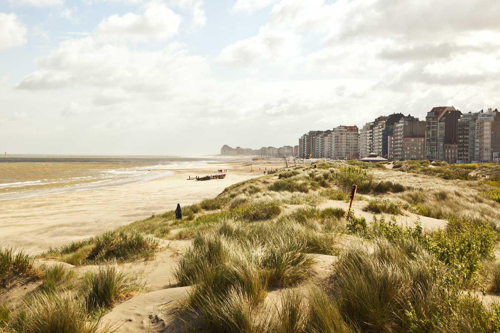 Бельгия трамвайная линия вдоль побережья