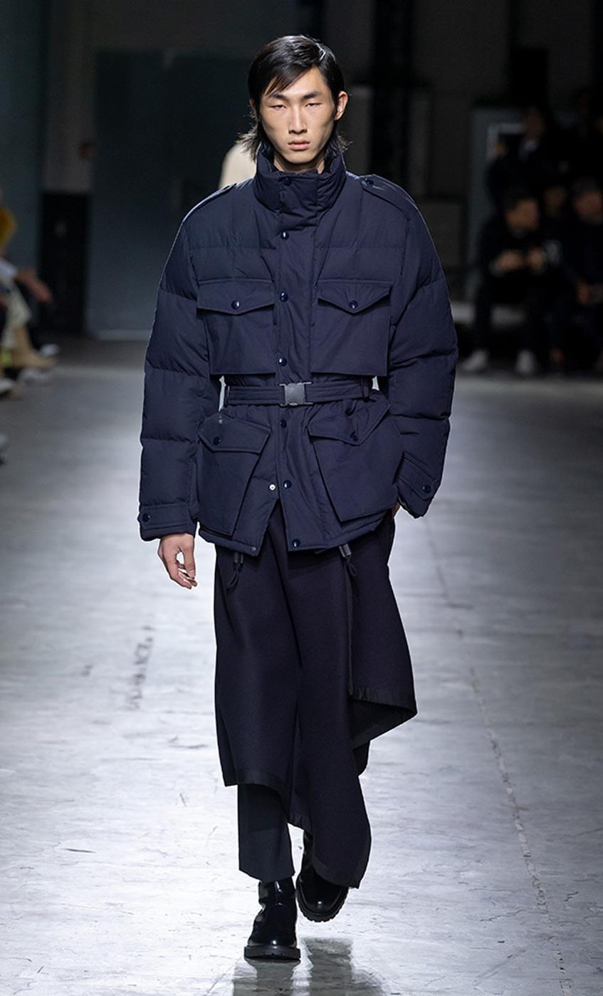 мужская зимняя куртка с поясом Dries Van Noten