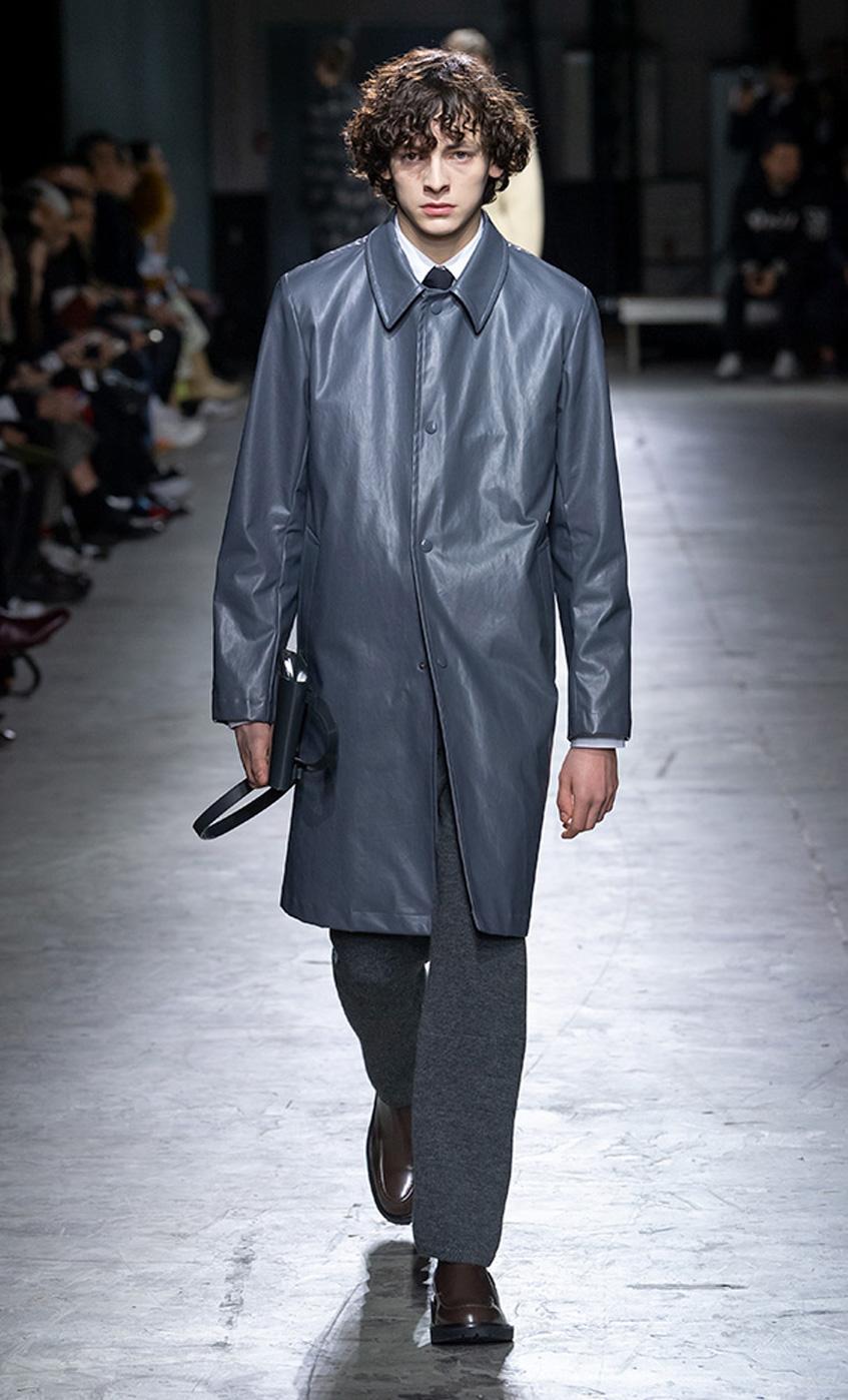 пальто из кожи Dries Van Noten