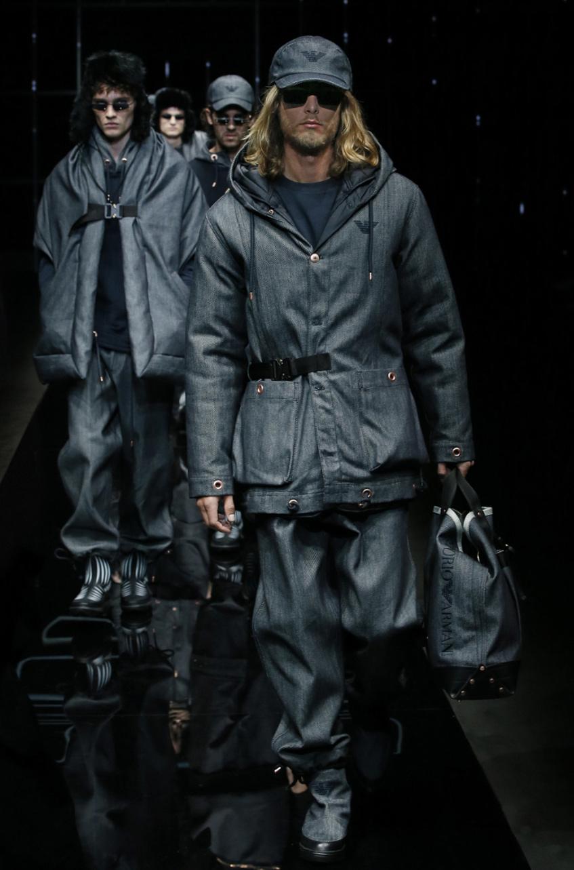 мужская зимняя куртка с карманами Emporio Armani