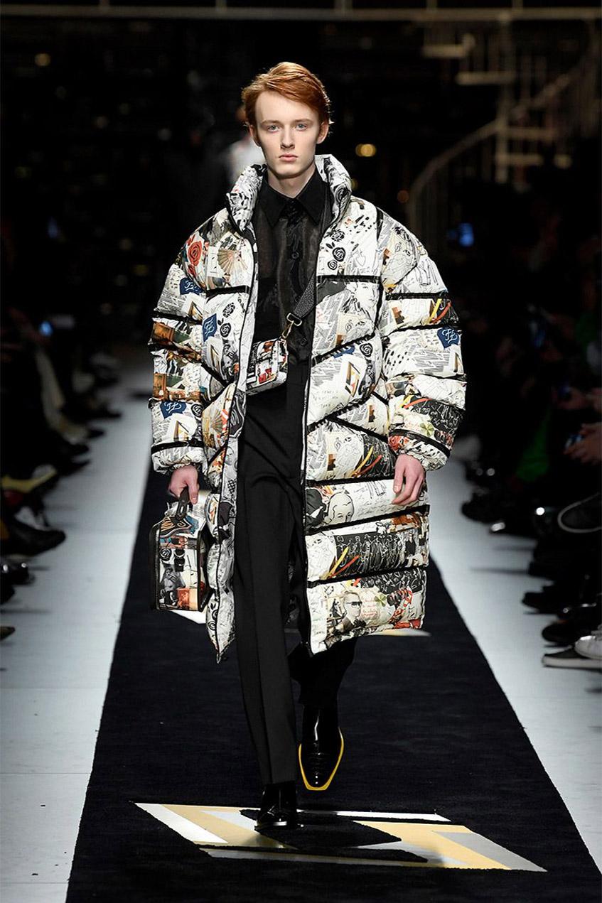 Пуховик-одеяло Fendi