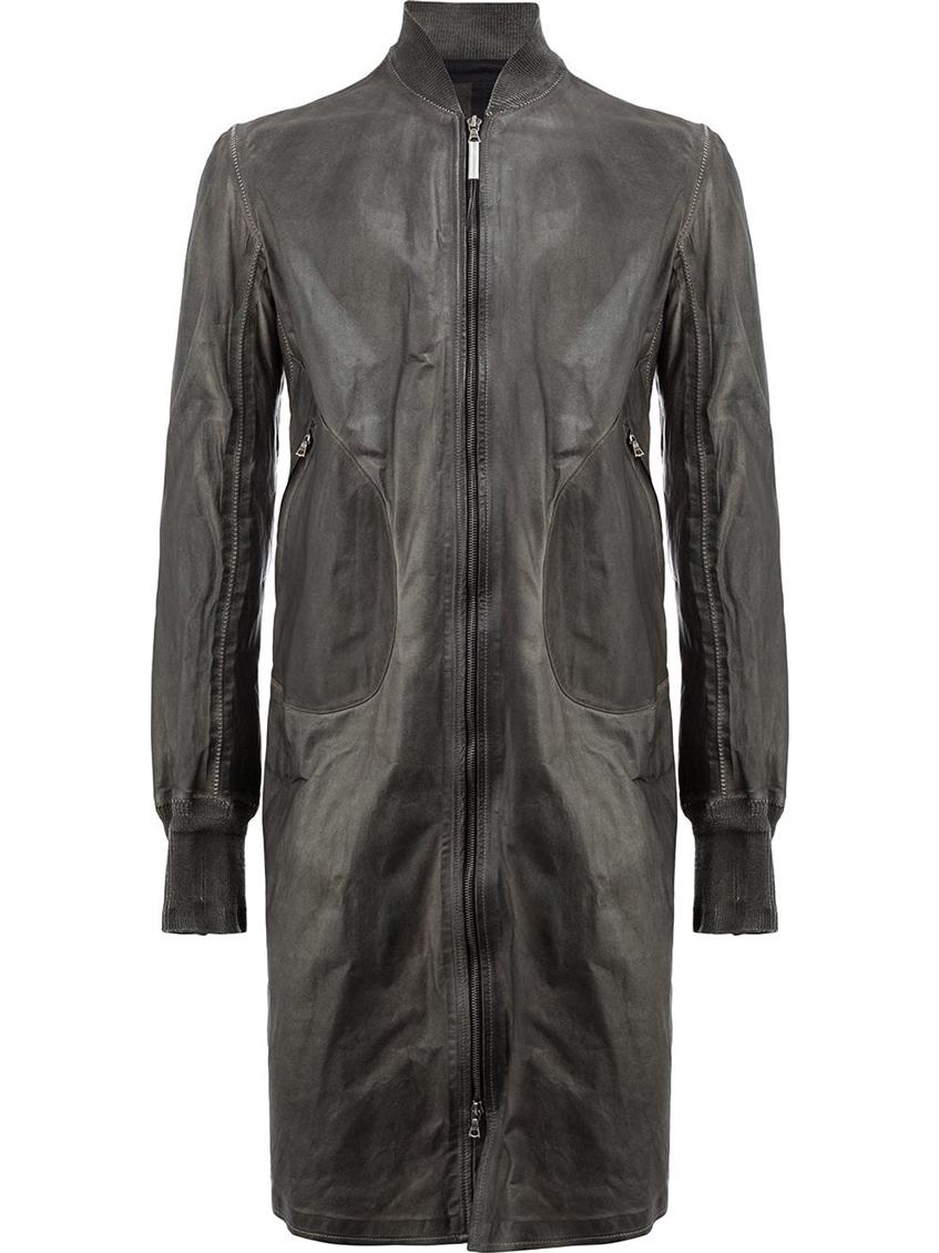 длинное мужское кожаное пальто Isaac Sellam Experience