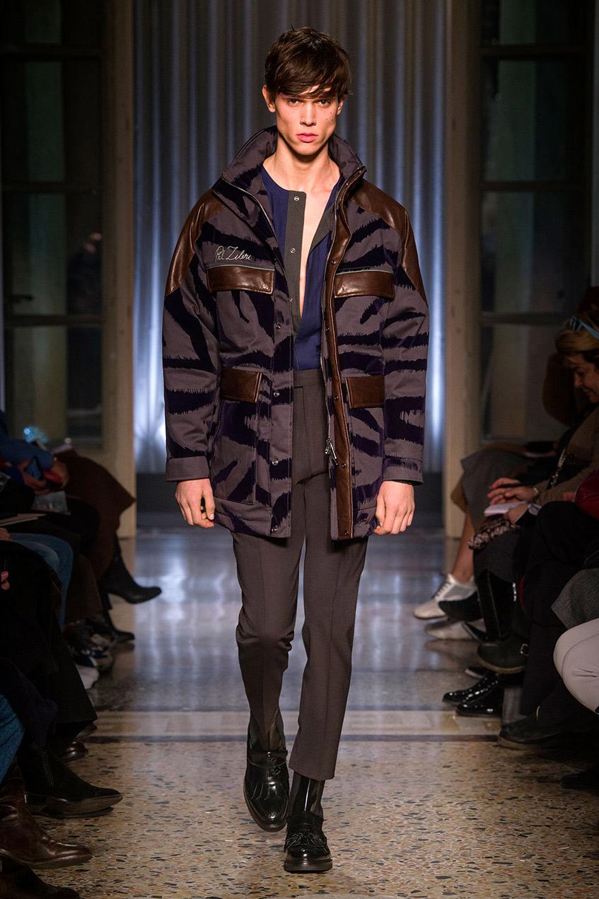 мужская зимняя куртка с карманами Pal Zileri