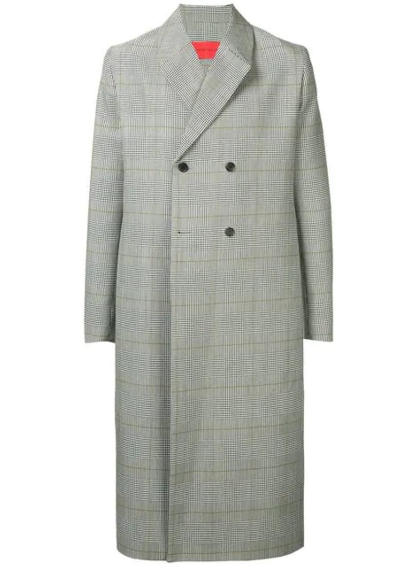 серое мужское длинное пальто Strateas Carlucci