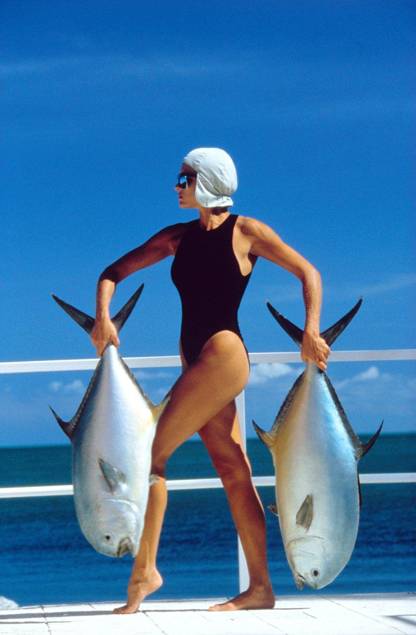 Жан-Даниэля Лорье фотография с рыбами