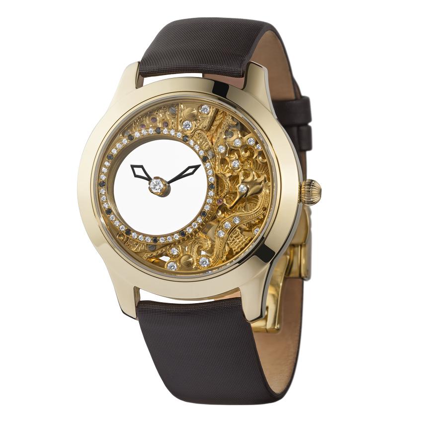 женские часы с кожаным ремешком Ника