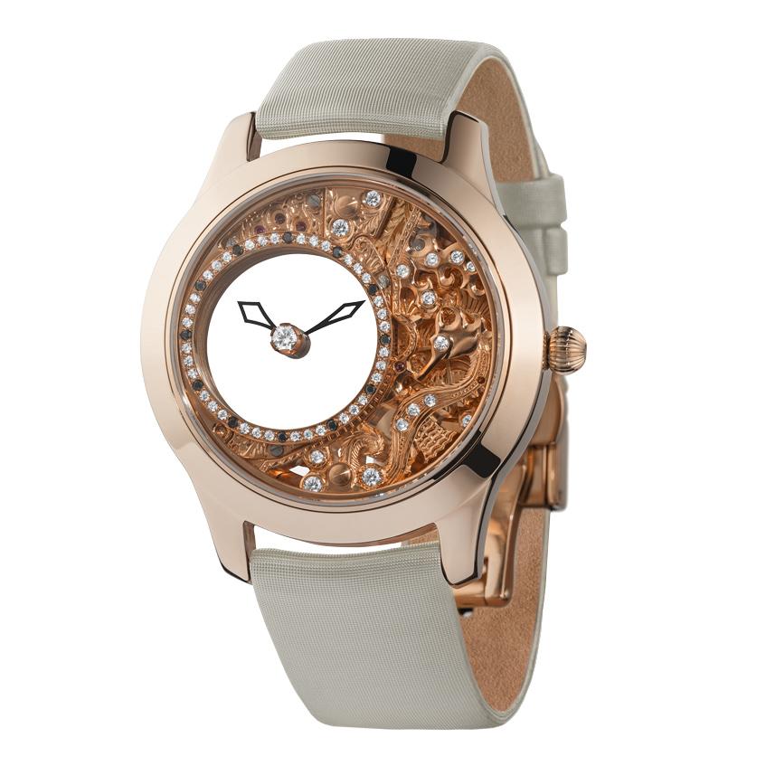 женские часы из розового золота Ника