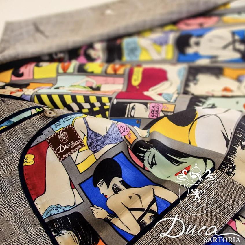 Duca Sartoria подкладка пиджака