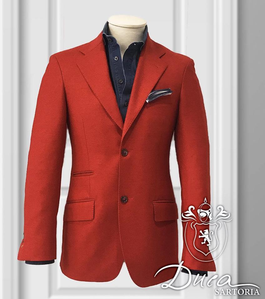 красный пиджак на заказ