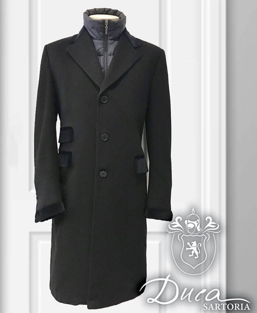 Duca Sartoria пальто мужское серое