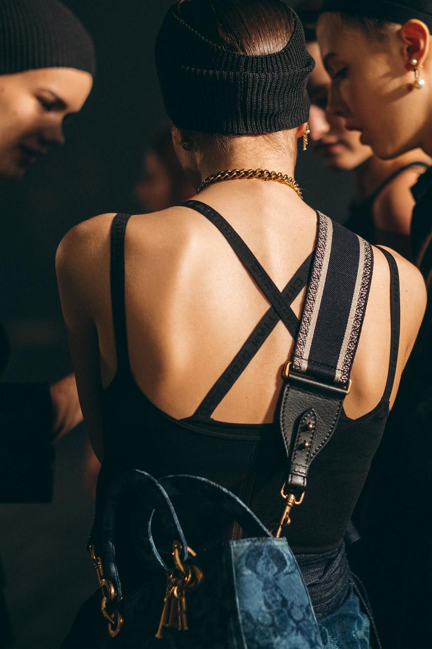 черная повязка на голову Dior