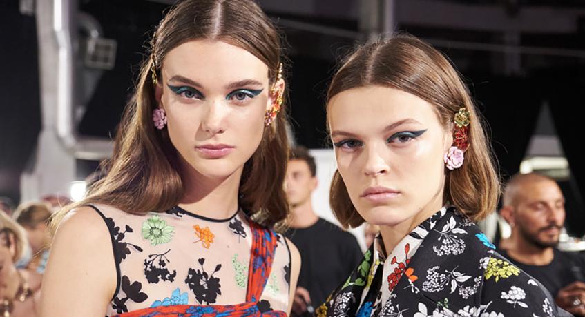 серьги заколки с цветами Versace