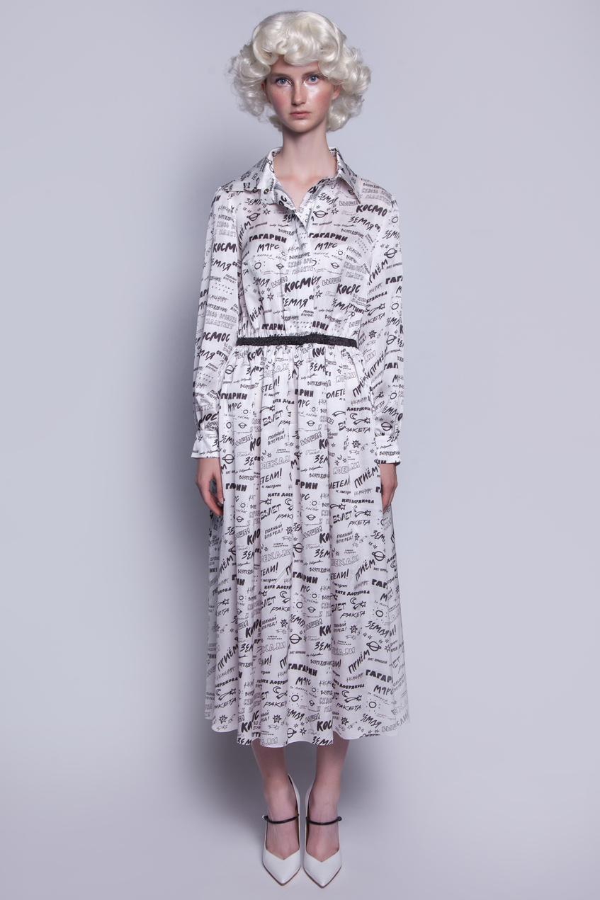 Белое длинное платье Катя Добрякова