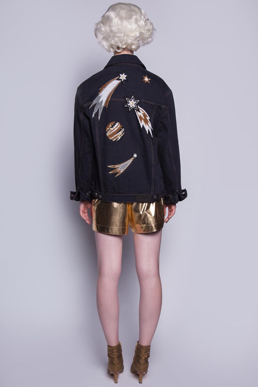 джинсовая куртка с кометами Катя Добрякова