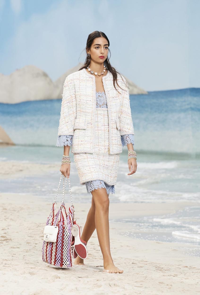 пляжная сумка авоська Chanel