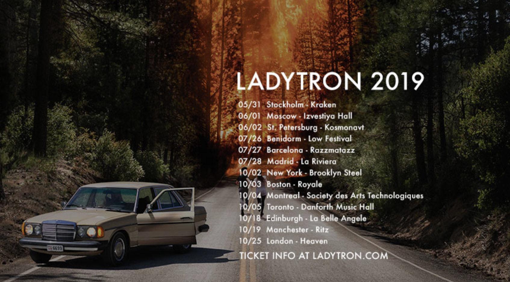 расписание концертов Ladytron тур 2019