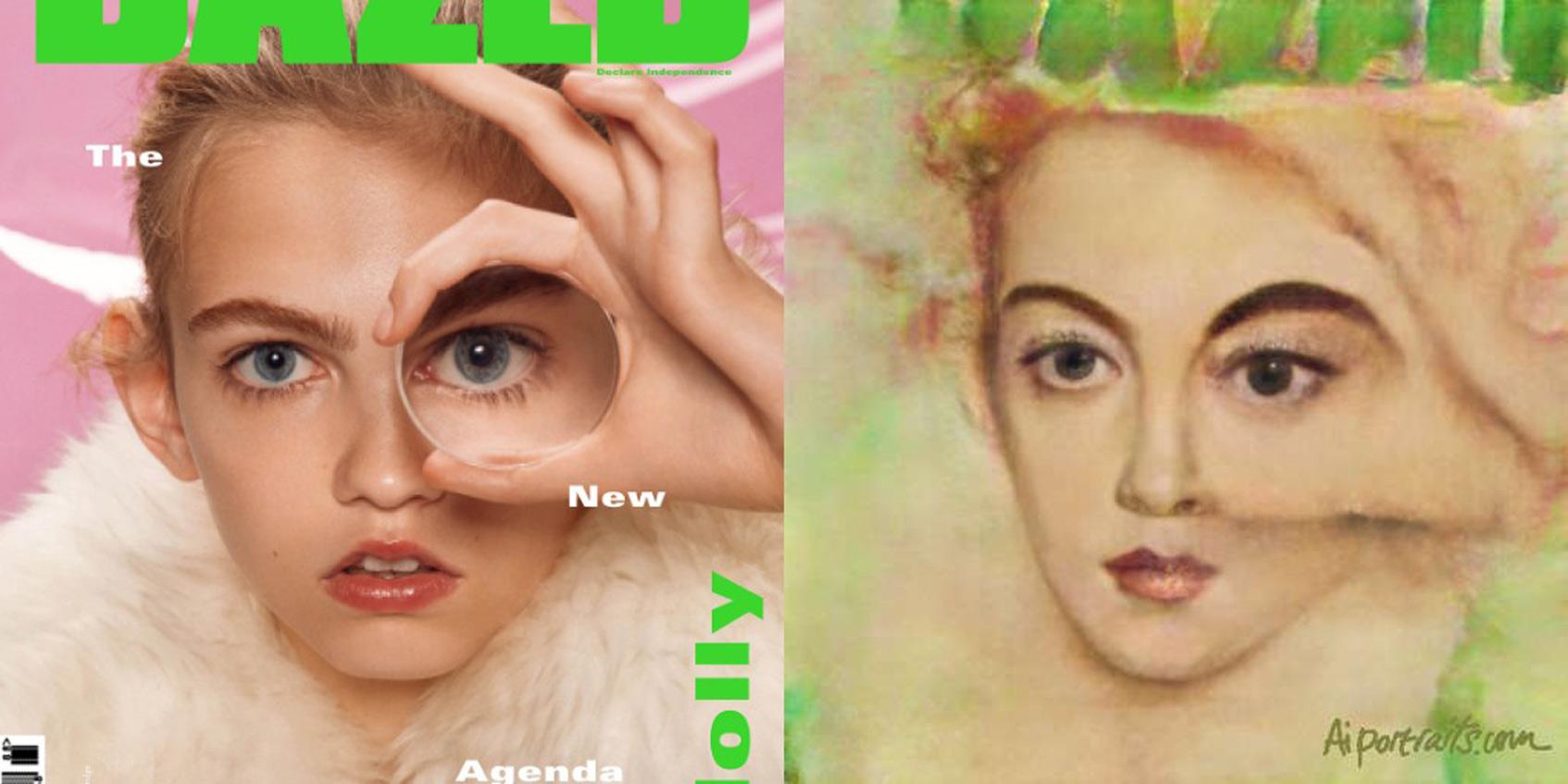 модный журнал модель обложка