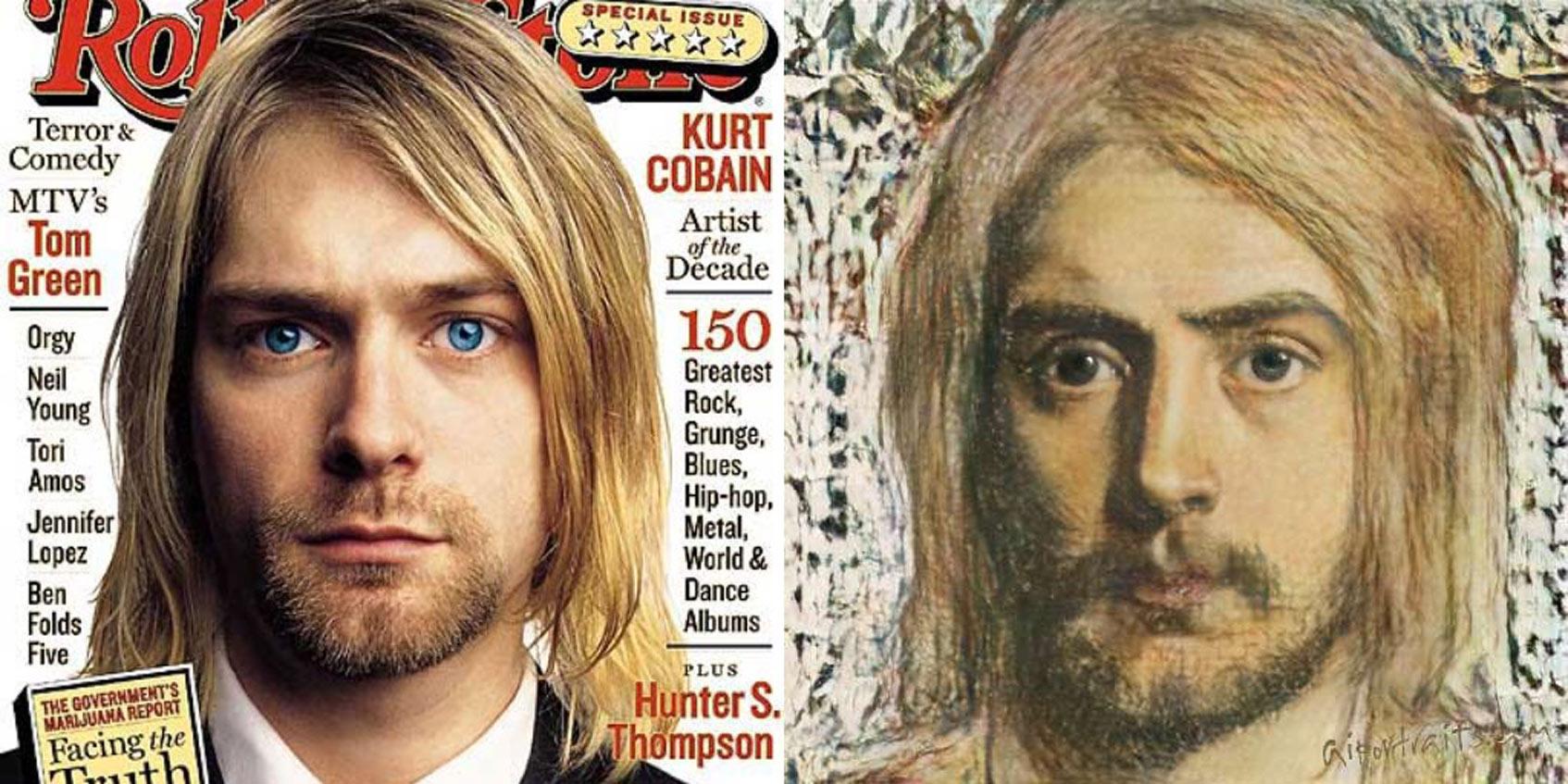 Kurt Cobain постер