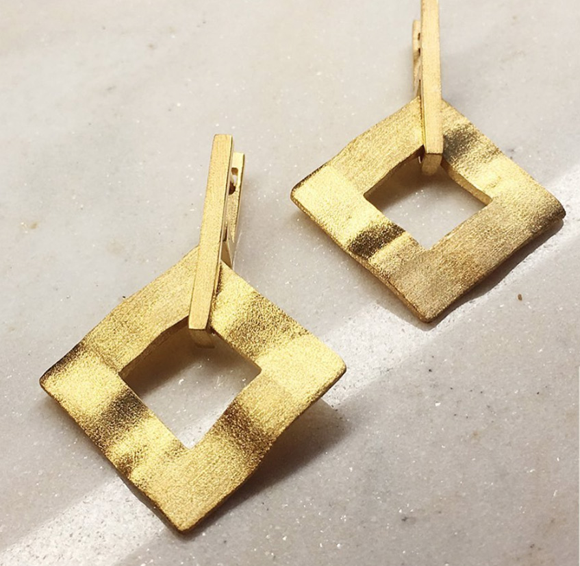 серьги геометрические Alchemia jewellery (Dafna)