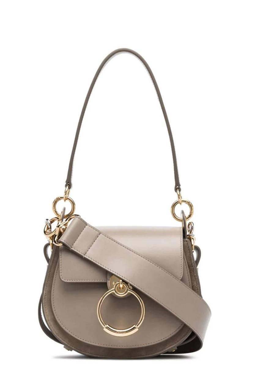 маленькая сумка Chloe бежевая