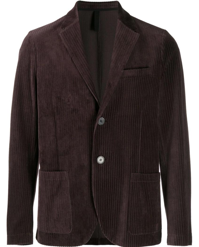 коричневый вельветовый мужской пиджак Harris Wharf London