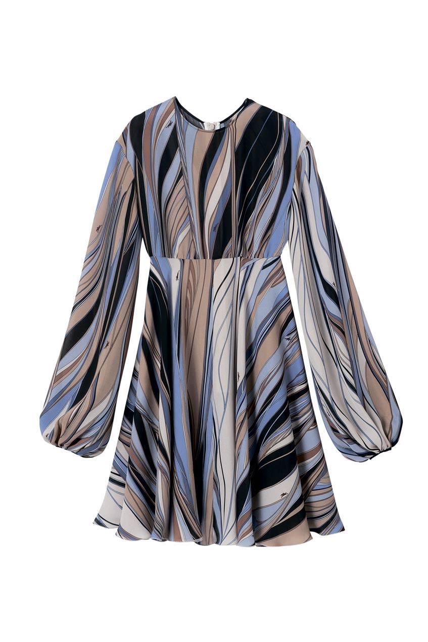 платье по колено 70-е Longchamp