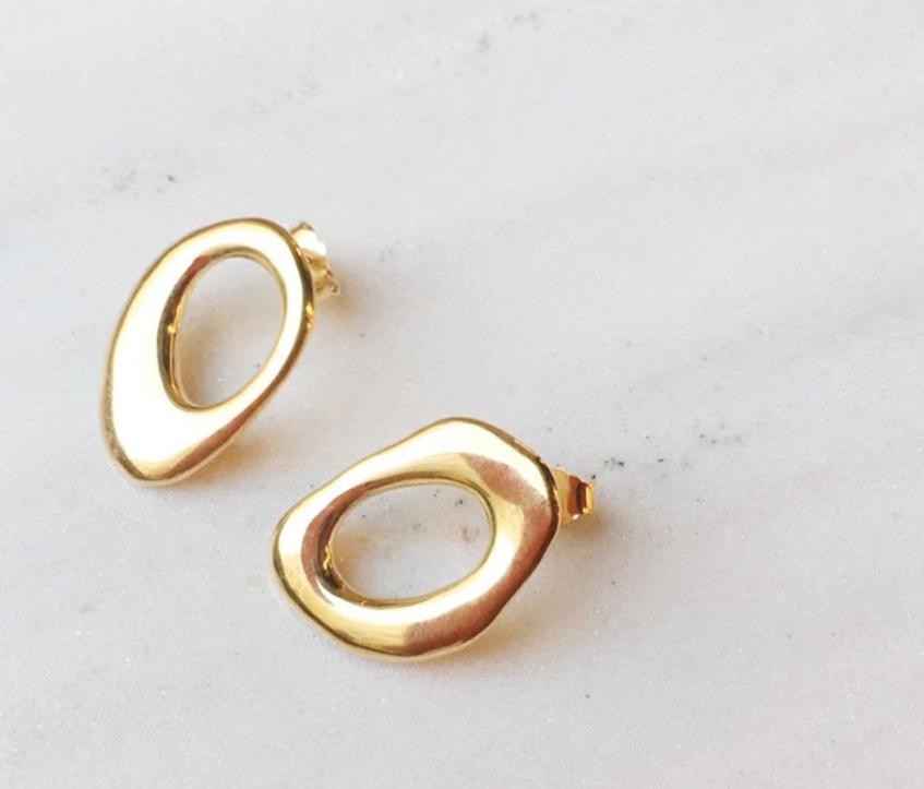 золотые серьги-гвоздики M.O.D. (Dafna)